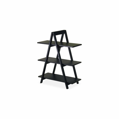 A-Frame Shelf in Black Finish - Winsome Trading - 20130