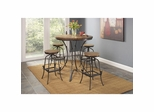 Abbey 5 Pc Dinette Set with Adjustable Swivel Stools - Largo - LARGO-ST-ABBEY-SET2