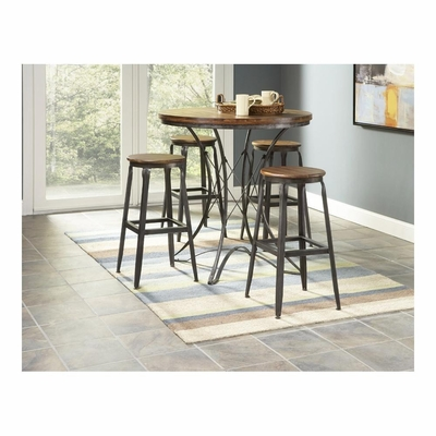 Abbey 5 Piece Dinette Set with Backless Stools - Largo - LARGO-ST-ABBEY-SET1