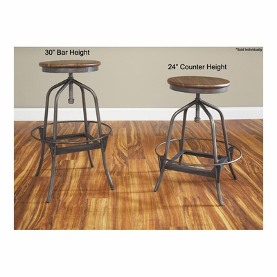 Abbey Adjustable Swivel Stool - Largo - LARGO-ST-D272-ADJUSTABLE