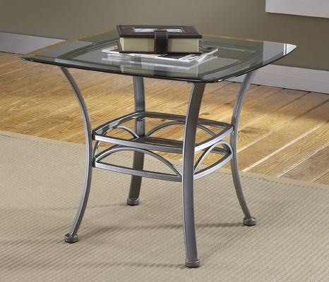 Abbington Square End Table with Glass Top - Hillsdale Furniture - 4885OTE