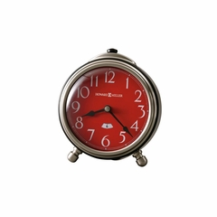 Abigail Metal Alarm Clock with Red Dial - Howard Miller