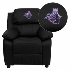 Abilene Christian University Wildcats Embroidered Black Leather Kids Recliner - BT-7985-KID-BK-LEA-41001-EMB-GG