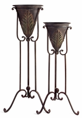 Acanthus Plant Stands (Set of 2) - IMAX - 1157-2