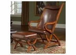 Accent Chair - Chair And Ottoman in Tobacco Leather / Brown frame - Largo Furniture - L731A