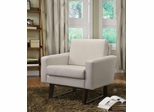 Accent Chair in Textured-Linen Beige - 900176