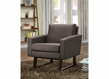 Accent Chair in Textured-Linen Brown - 900174