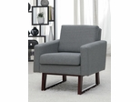 Accent Chair in Textured-Linen Gray - 900175