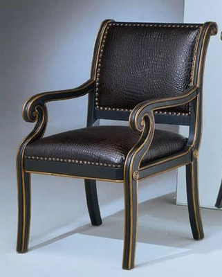 Accent Chair - Maria Ebony Croco Chair - Ultimate Accents - MARI-331