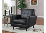 Accent Chair with Round Wood Legs - 900204