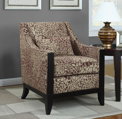 Accent Chair with Slightly Leaned Back - 902090