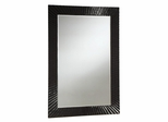 Accent Mirror with High Gloss Black Frame - 901744
