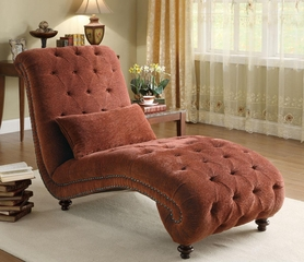 Accent Seating Upholstered Chaise in Red - 550074