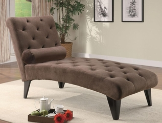 Accent Seating Velour Tufted Chaise - 550069