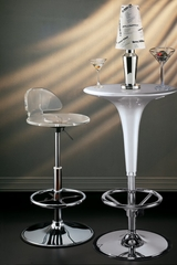 Acrylic Bar Stool in Chrome / Acrylic - LumiSource - BS-ACRYLIC