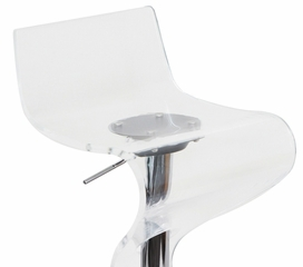 Acrylic Clear Viva Barstool - LumiSource - BS-VIVA-ACR-C