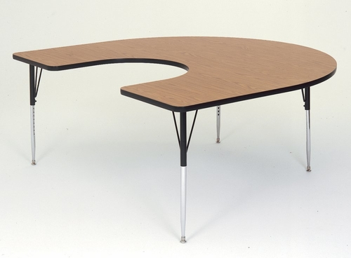 Activity Table in Medium Oak - Horseshoe 60