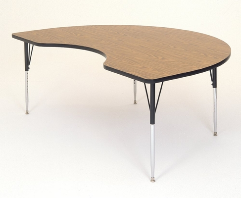 Activity Table in Medium Oak - Kidney Shaped 48