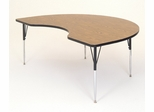 "Activity Table in Medium Oak - Kidney Shaped 48"" x 72"" - Correll Office Furniture - A4872-KID"