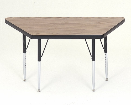 Activity Table in Medium Oak - Trapezoid 30