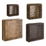 Addel Woven Wall Cubes (Set of 4) - IMAX - 67086-4