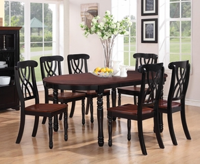 Addison 7-Piece Oval Dining Table Side Chairs Set - 103701