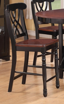 Addison Counter-Height Stool with Double Waved X-Back - 102229