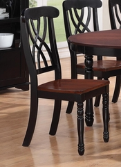Addison Side Chair with Double Waved X-Back Design - Set of 2 - 103702