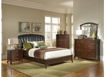Addley Dark Cherry Bed, Dresser, Mirror, Chest and Nightstand - 202450Q