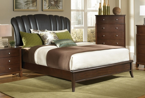 Addley King Upholstered Shell Headboard Bed - 202450KE