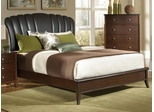 Addley Queen Upholstered Shell Headboard Bed - 202450Q