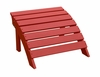 Adirondack Footrest in Red - S-92248