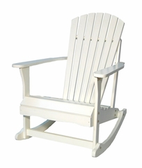Adirondack Porch Rocker in White - R-52581