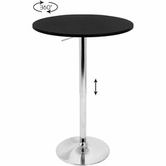 Adjustable Bar Table with Black Top - Lumisource