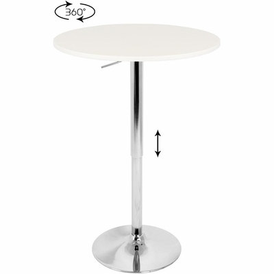 Adjustable Bar Table with White Top - Lumisource