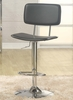 Adjustable Gas Lift Stool in Black with Chrome Base - Entree by APA Marketing - MAL-17BK