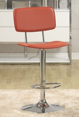 Adjustable Gas Lift Stool in Red with Chrome Base - Entree by APA Marketing - MAL-17RD