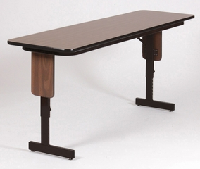 Adjustable Height Panel Leg Seminar Table 18x60 - Correll Office Furniture - SPA1860PX
