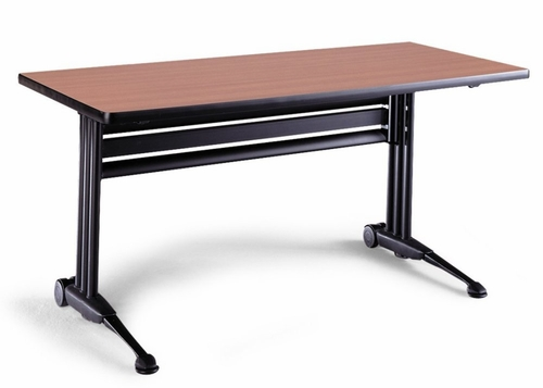 Adjustable Rectangular Table in Pearwood - Mayline Office Furniture - TT54RACRPBLK