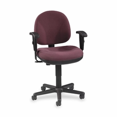 Adjustable Task Chair - Burgundy - LLR80007
