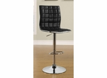Adjustable Waffle Bar Stool in Black - Set of 2 - 122087