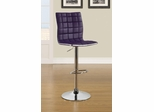 Adjustable Waffle Bar Stool in Purple - Set of 2 - 122088