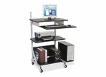 Adjustable Workstation - Black/Silver Frame - BLT42551