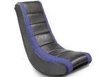 Adult Video Rocker Black with Blue Mesh Racing Stripe