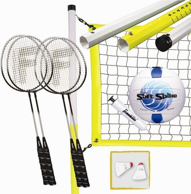 Advanced Badminton and Volleyball Combo Set - Franklin Sports