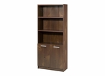 Aero Lite 3 Shelf Bookcase with 2 Doors - Nexera Furniture