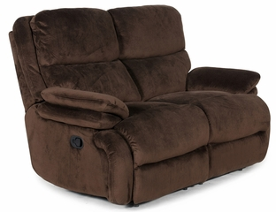 Affinity ll Reclining Love Seat in Chocolate - 255255600918