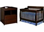 AFG Baby Alice 3 in 1 Convertible Crib and 2 Drawer Changer Combo Espresso