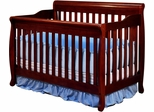 AFG Baby Alice Convertible Crib with Toddler Rail Cherry