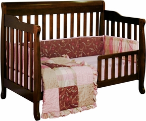 AFG Baby Alice Convertible Crib with Toddler Rail Espresso